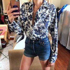 70s polyester blouse